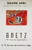 GOETZ Henri - Affiche tir�e en lithographie