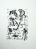 MICHAUX Henri - Lithographie originale