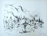 SEARLE Ronald - Lithographie originale